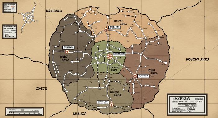 Mapa 2 - Amestris - Mapa político