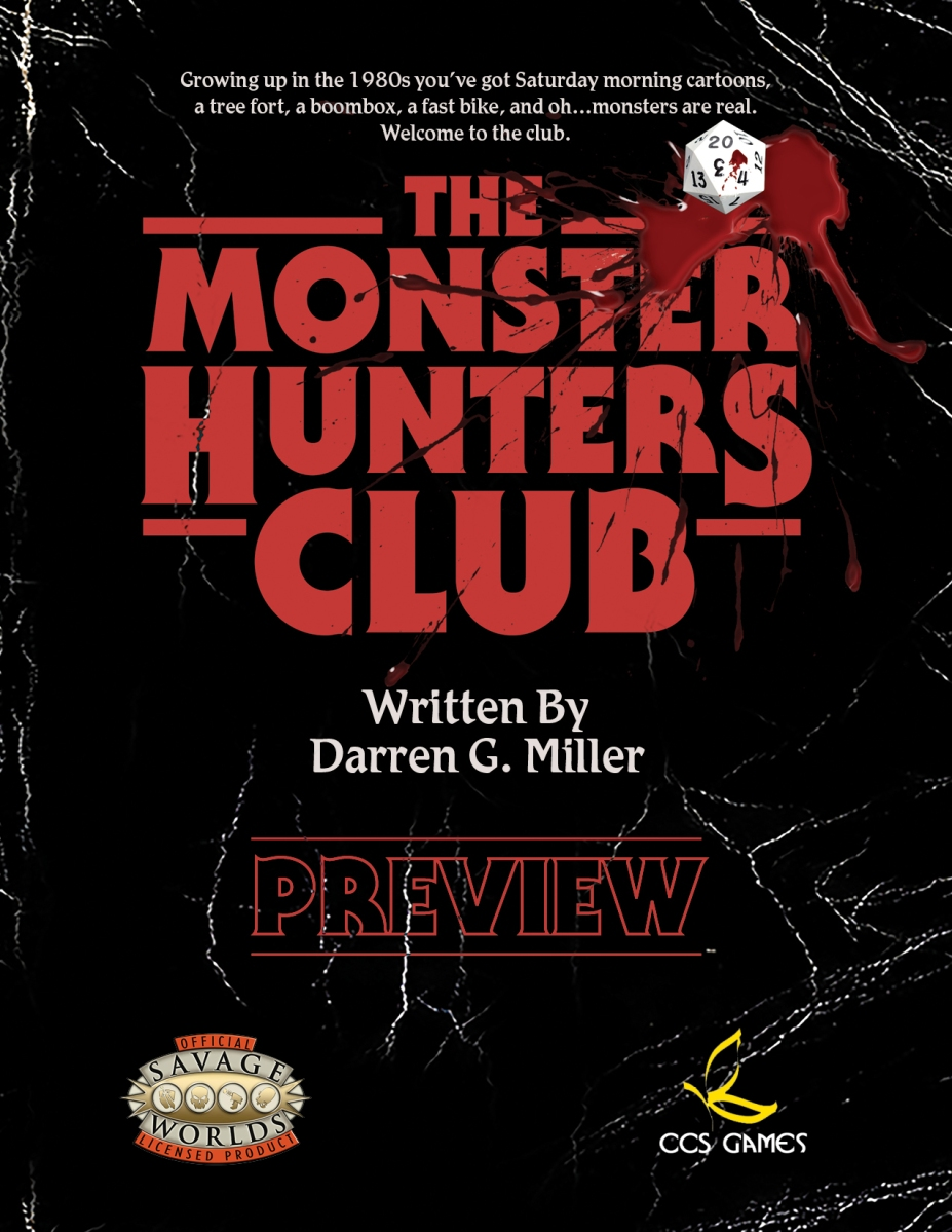 The Monster Hunter's Club - Anos 80 para Savage Worlds.